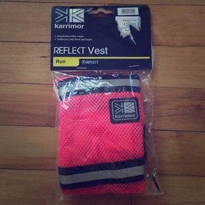 pink hi viz running vest